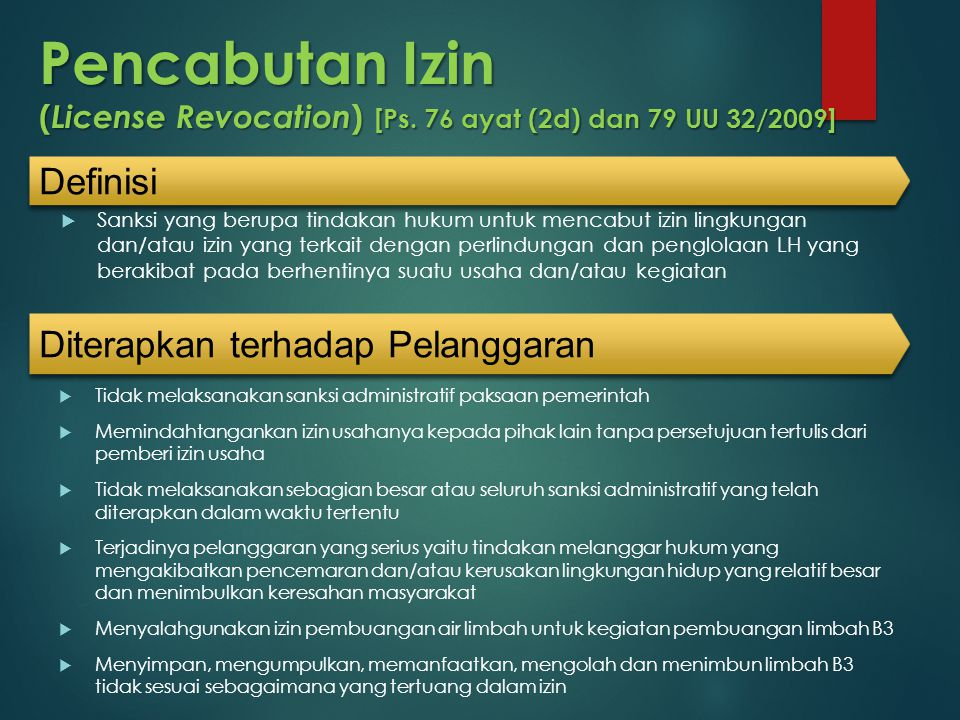 Pencabutan Izin (License Revocation) [Ps